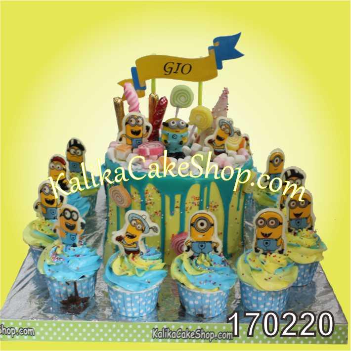 Cake Ulang tahun candyland Minion
