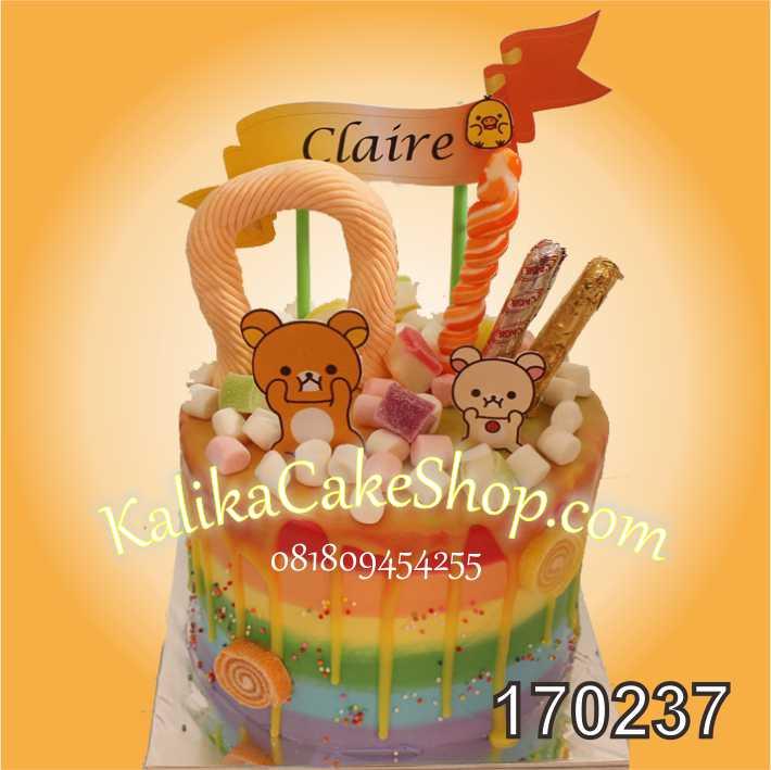Cake Ulang tahun candyland rilakuma
