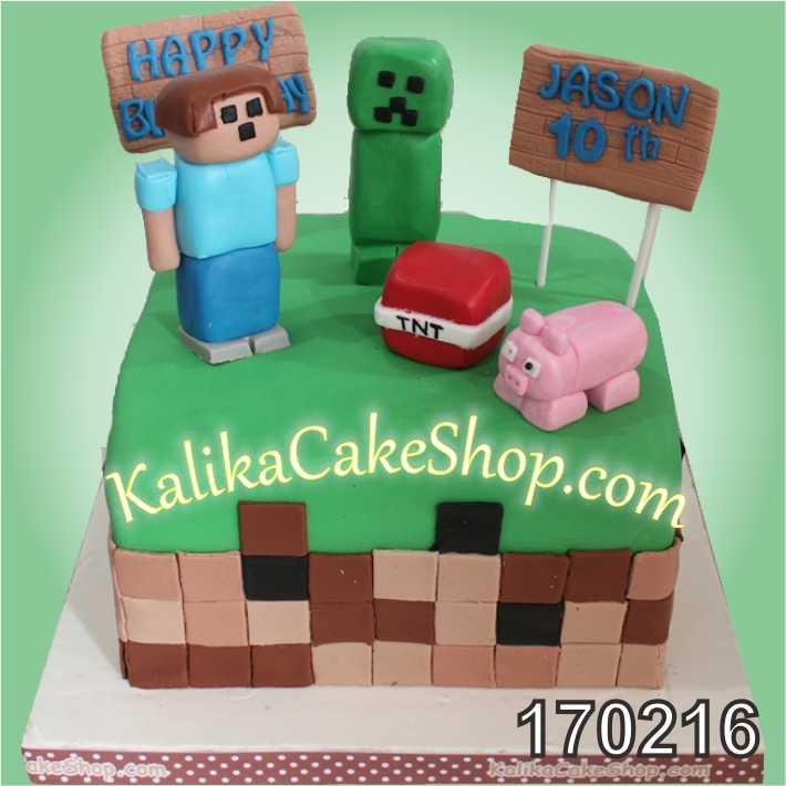 Cake Ulang tahun minecraft Jason