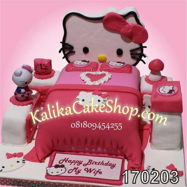 Cake ulang tahun Kamar kitty