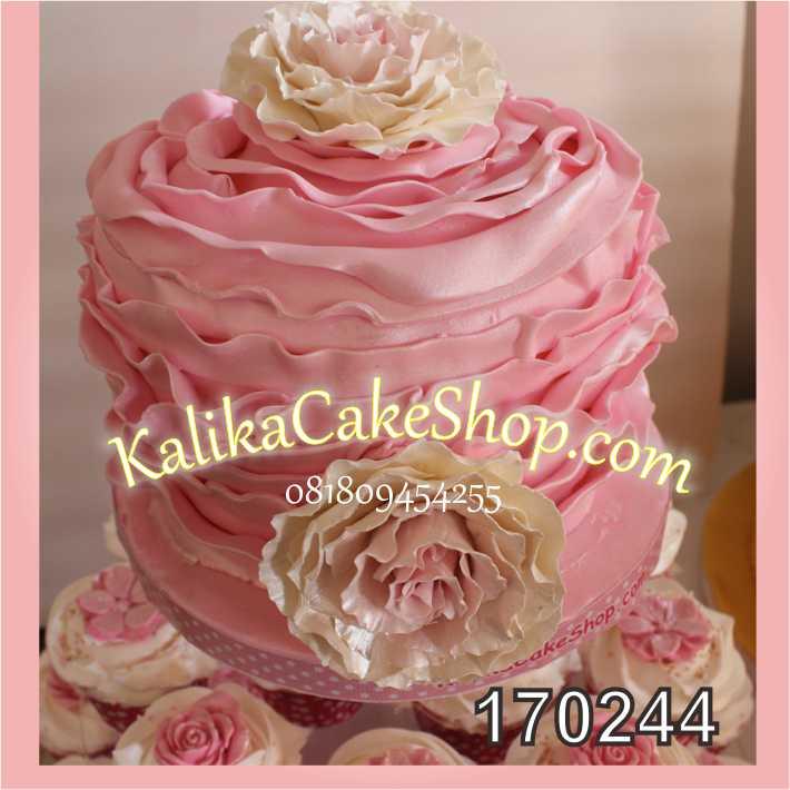 Cake ulang tahun bunga pink 3