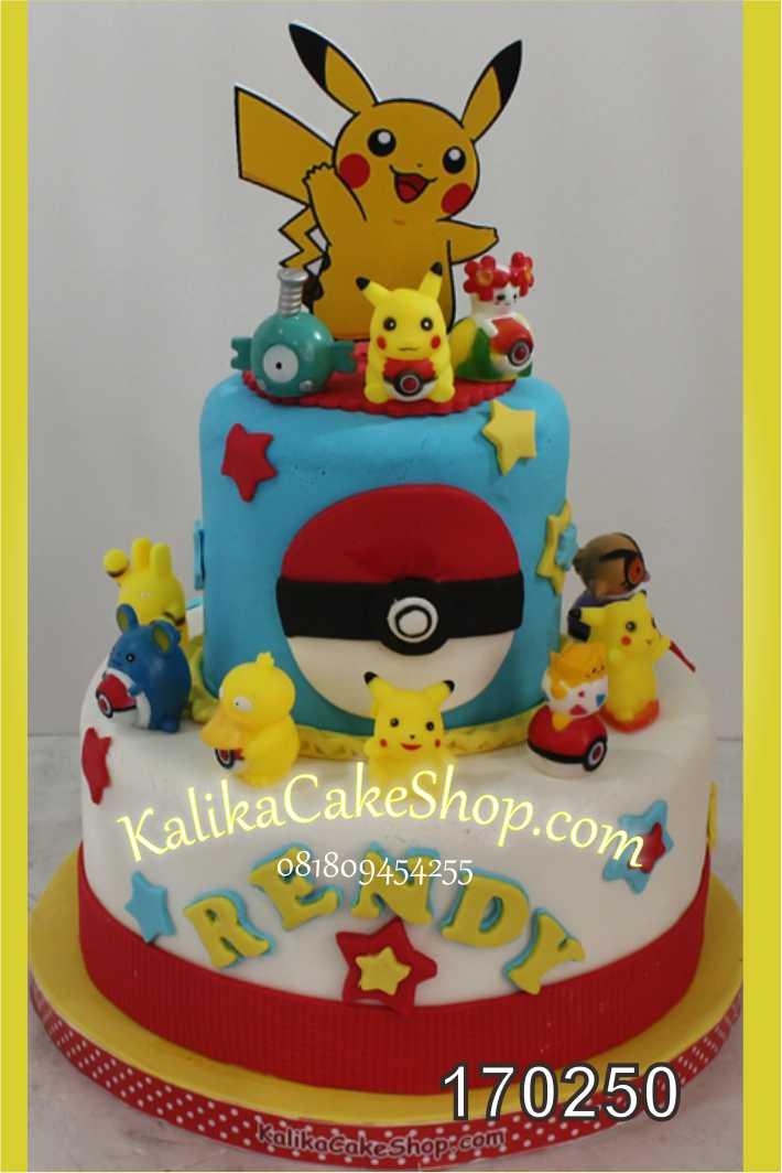 Cake ulang tahun pokemon 2 susun