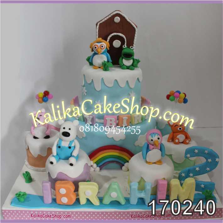 Cake ulang tahun pororo