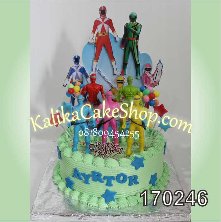 Cake ulang tahun powwer ranger