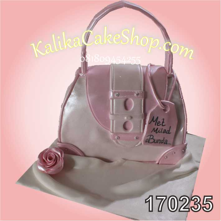 Cake ulang tahun tas pink Bunda