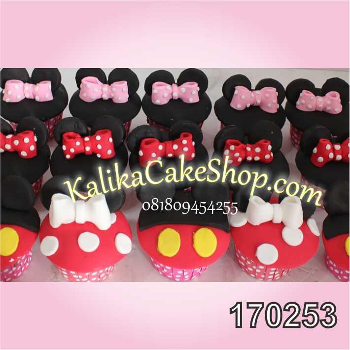 Cup Cake ulang tahun mickey mousse