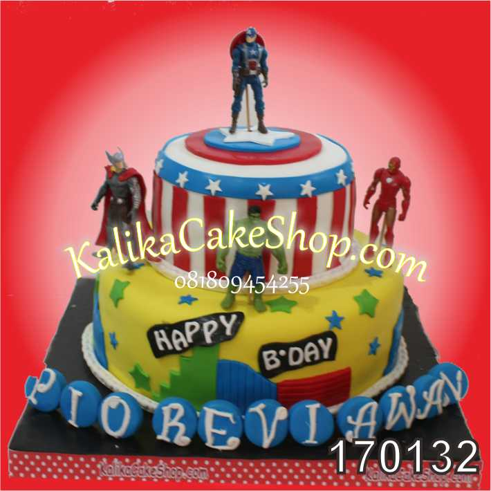 Kue Ulang Tahun Avengers Pio