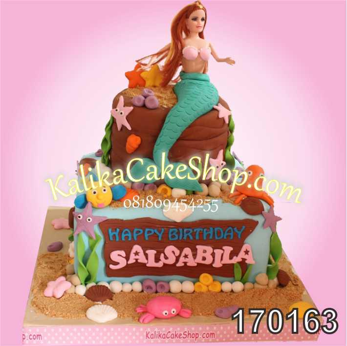 Kue Ulang Tahun Mermaid Salsabila