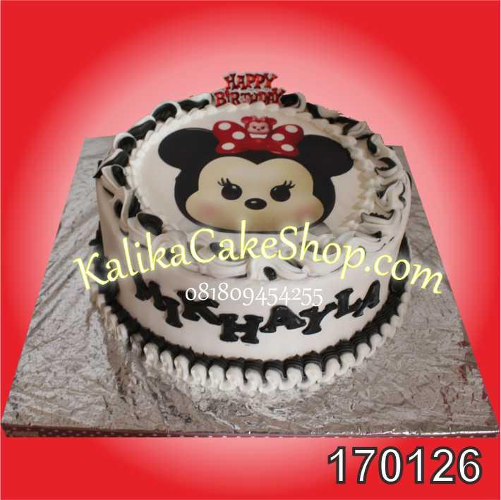 Kue Ulang Tahun Minnie Mouse Mikhayla
