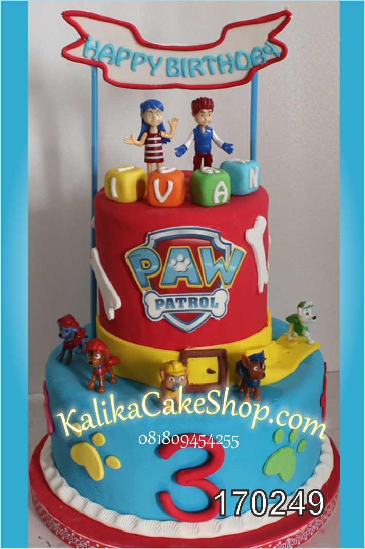 cake ulang tahun pow patrol