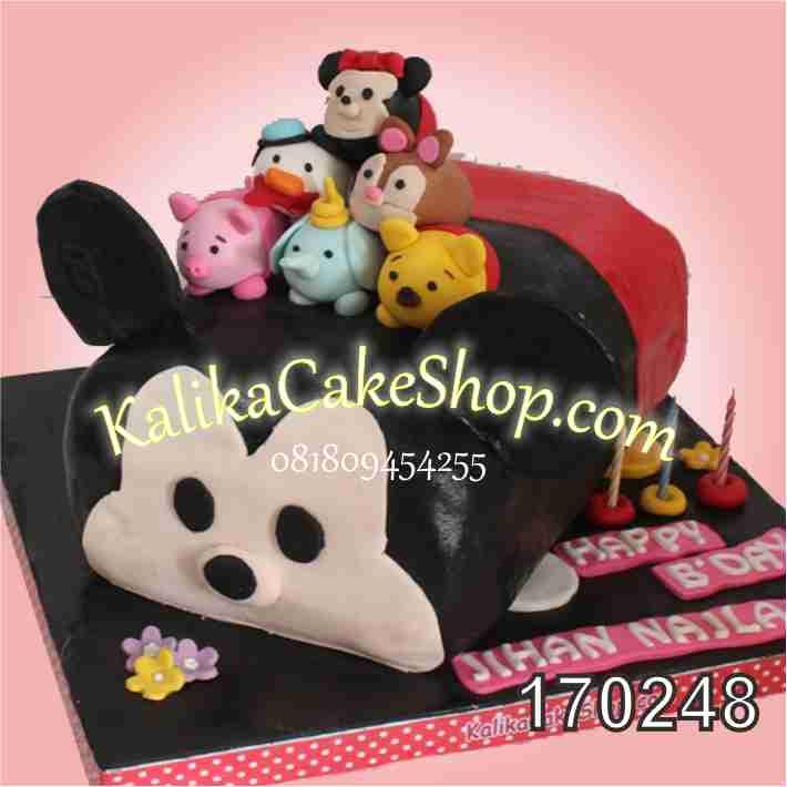 cake ulang tahun tsum tsum